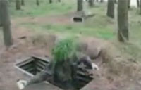 Soldier Fails at Grenade Throwing
