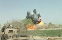 Marines Destroy IED with MICLIC