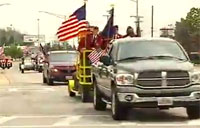 Wounded Soldier Returns Home