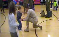 Marine Sees Son Walk for First Time