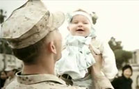 Military Dad Meets Baby for First Time