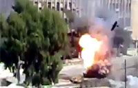 Syrian Tank Explodes After RPG Hit