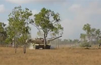 M1A1 Tank Removes Trees in Australia