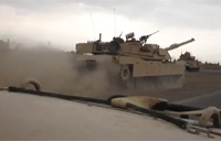 Abrams Tank Engages Insurgents - Pt 1