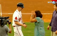 Disguised Airman Shocks Mom at Game