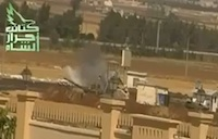 Rebels Hit Syrian Tanks with RPGs