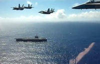 Sweet Flyover of USS Ronald Reagan