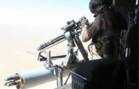 UH-1Y Door Gunner Fires on Insurgents