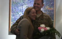 Soldier Catches Wife Off Guard!