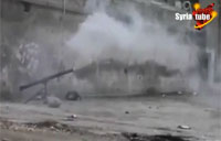 Syrian Rebel Rocket FAIL