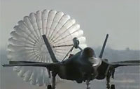 F-35A Spin Recovery Chute Test