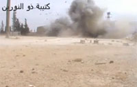 Assad Tank Rolls Over Huge IED