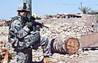 Dismounted IED Close Call in Iraq