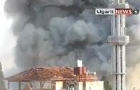 Huge Explosion as MiG Bombs Homs