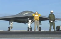 UCAS X-47B Taxis at Sea