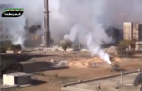 Syrian Army Scud Missile Attack