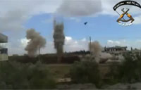 Triple IED Attack on Syrian BMP