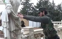 FSA Troops Destroy Art Statues in Syria