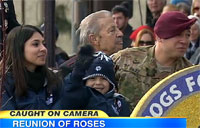Soldier Surprise at Rose Bowl Parade