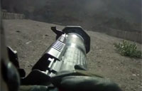 First Person View of AT4 Firing