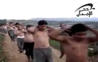 Insane Line of SAA POWs Marching