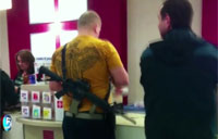 Man Brings Assault Rifle Shopping