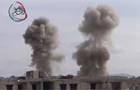 2 Rockets Destroy Building in Damascus