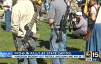 Assault Rifle Rally at Arizona Capitol
