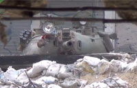 Syrian Tank Crashes FSA Party