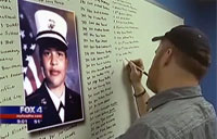Sailor Memorizes Names of Fallen