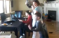 Army Dad Fools Kids via Webcam