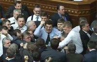Ukrainian MPs Get Into Fistfight