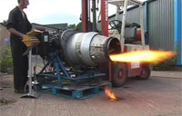 Jet Engine Almost Blows Away