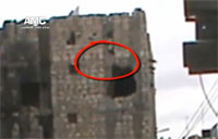 SAA Soldier Bombed Out of Building