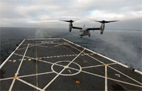 Osprey Speed Warp On Navy Ship!