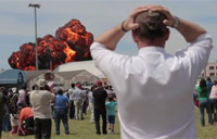 Vintage Plane Crashes at Air Show