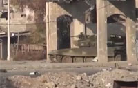 Syrian Army Tank Engaged with IED