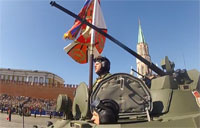 Tank POV of Victory Day Parade