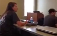 Army Medic Surprises Sister in Class