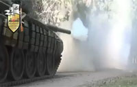 FSA Tank Targets Sniper in Tower