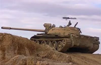 Missile Barely Misses T-55 Tank