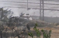 RPG Attack on SAA Tank in Damascus