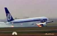 Polish 767 Does Belly Flop Landing