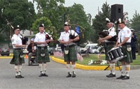Memorial Ceremony with Bagpipes