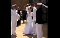 New Bride Gets a 'Real' Navy Kiss