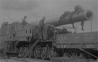 Navy WWI Railroad Gun in Europe