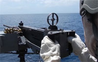 Firing the M2 .50 Caliber at Sea