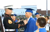 Marine Surprises Son at Graduation
