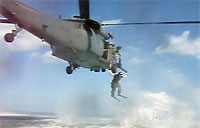 Jumping Off an HH-60G into the Ocean