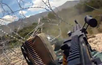 Machine Gun Support in Army Firefight